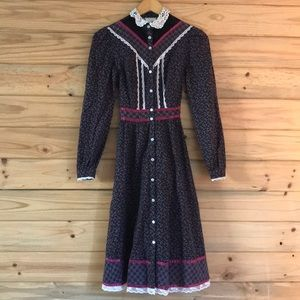 Gunne Sax style vintage dress